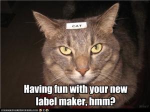 label in cat